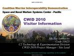CWID 2010   Visitor Information
