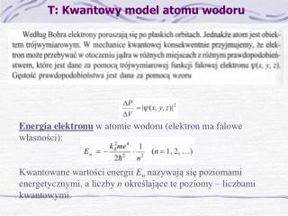 T: Kwantowy model atomu wodoru