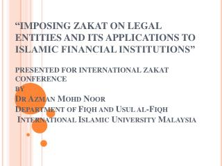 Zakat  Payment as per   zakatable  assets 2007-2010  WILAYAH PERSEKUTUAN
