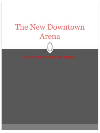 The New Downtown Arena
