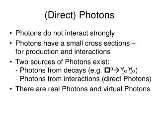(Direct) Photons