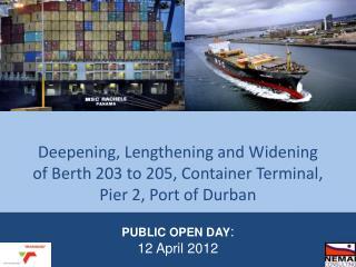 PUBLIC OPEN DAY : 12 April 2012