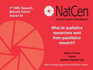 William O'Connor Director Qualitative Research Unit