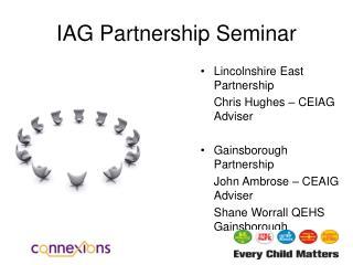 IAG Partnership Seminar