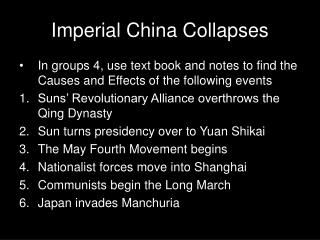 Imperial China Collapses
