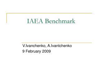 IAEA Benchmark