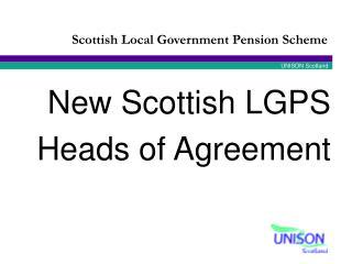 New Scottish LGPS Heads of Agreement