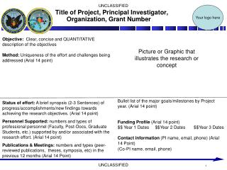 Title of Project, Principal Investigator, Organization, Grant Number