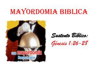 MAYORDOMIA BIBLICA