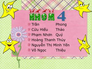 Trần Phong Cửu Hiếu Thảo Phạm Nhơn Quý Hoàng Thanh Thủy Nguyễn Thị Minh Yến Võ Ngọc Thiệu