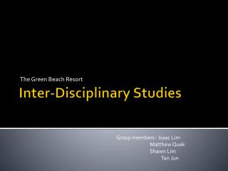 Inter-Disciplinary Studies