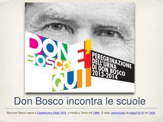 Don Bosco incontra le scuole
