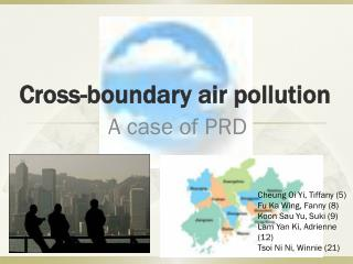 Cross-boundary air pollution