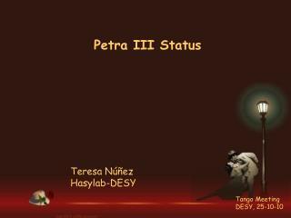 Petra III Status