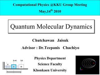 Quantum Molecular Dynamics