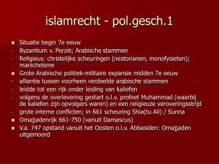 islamrecht - pol.gesch.1