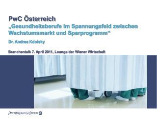 Branchentalk 7. April 2011, Lounge der Wiener Wirtschaft
