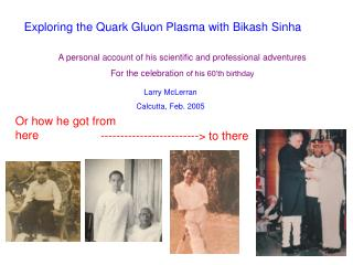 Exploring the Quark Gluon Plasma with Bikash Sinha