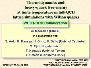Yu Maezawa (RIKEN) in collaboration with S. Aoki, K. Kanaya, H. Ohno, H. Saito (Univ. of Tsukuba)