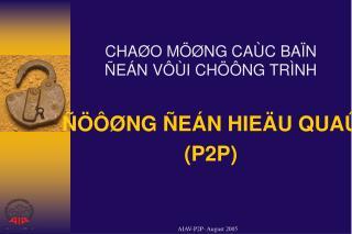 CHAØO MÖØNG CAÙC BAÏN   ÑEÁN VÔÙI CHÖÔNG TRÌNH