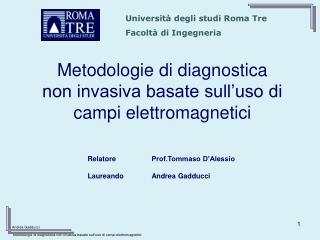 Metodologie di diagnostica  non invasiva basate sull'uso di campi elettromagnetici