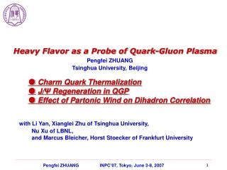 Heavy Flavor as a Probe of Quark-Gluon Plasma