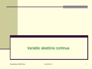 Variable aleat�ria continua