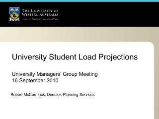 University Student Load Projections