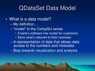QDataSet Data Model