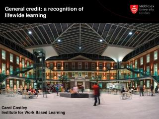 General credit: a recognition of lifewide learning