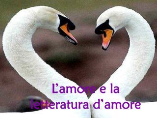 L'amore e la letteratura d'amore