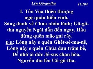 Lên Gô-gô-tha