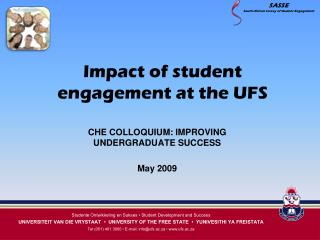 Impact of student engagement at the UFS