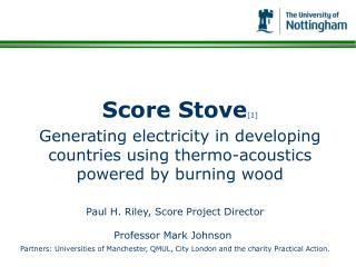 Score Stove [1]