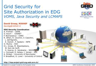 Grid Security for Site Authorization in EDG VOMS, Java Security and LCMAPS