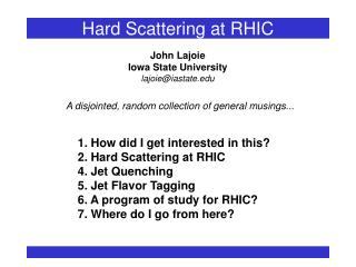 Hard Scattering at RHIC