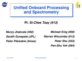 Unified Onboard Processing and Spectrometry