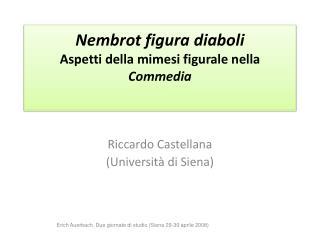 Nembrot  figura  diaboli Aspetti della mimesi figurale nella  Commedia