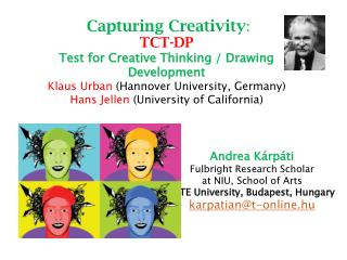 Andrea  K árpáti Fulbright Research Scholar  at NIU, School of Arts