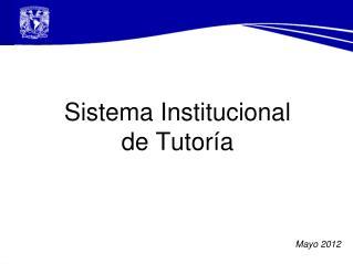 Sistema Institucional  de Tutoría