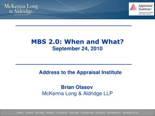 MBS 2.0: When and What? September 24, 2010