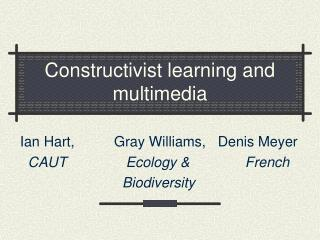 Constructivist learning and multimedia