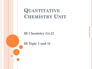 Quantitative Chemistry Unit