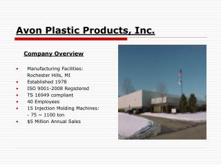Avon Plastic Products, Inc.