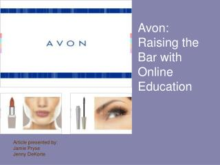 Avon: Raising the Bar with Online Education
