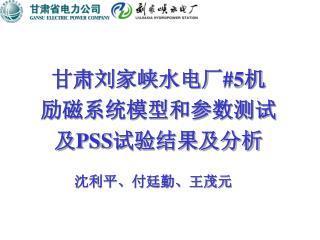 甘肃刘家峡水电厂 #5 机 励磁系统模型和参数测试 及 PSS 试验结果及分析