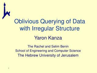 Oblivious Querying of Data with Irregular Structure