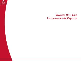 Invoices On – Line Instrucciones de Registro