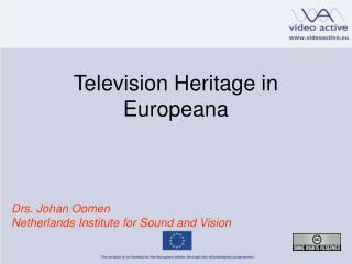 Television Heritage in Europeana