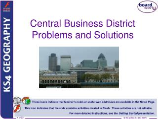 Central Business District Problems and Solutions